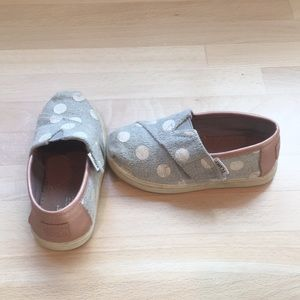 Toms toddler slip on shoes.